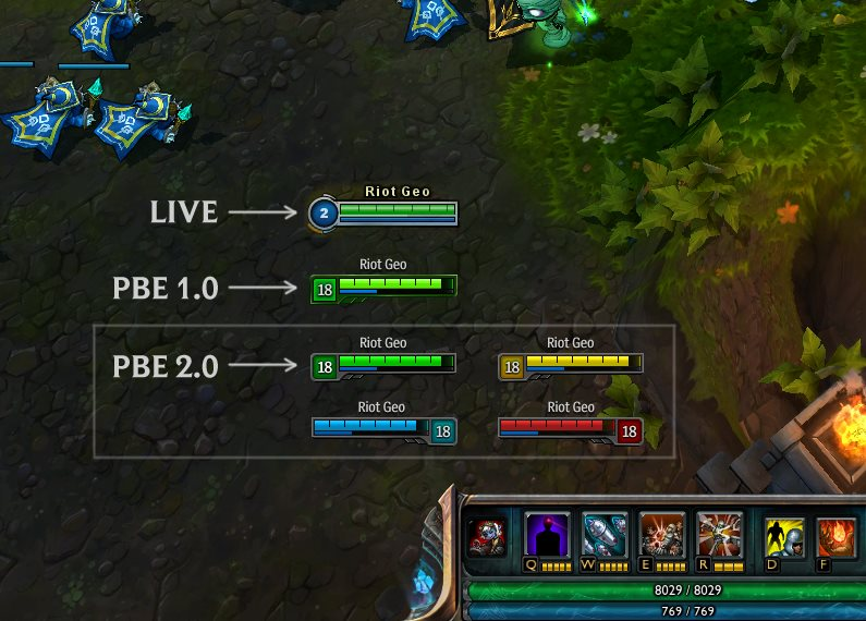 how to turn on health bars in league
