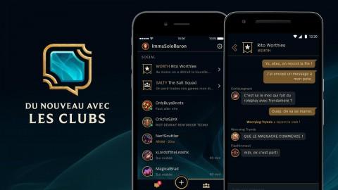 L'appli League Friends, désormais avec les clubs !