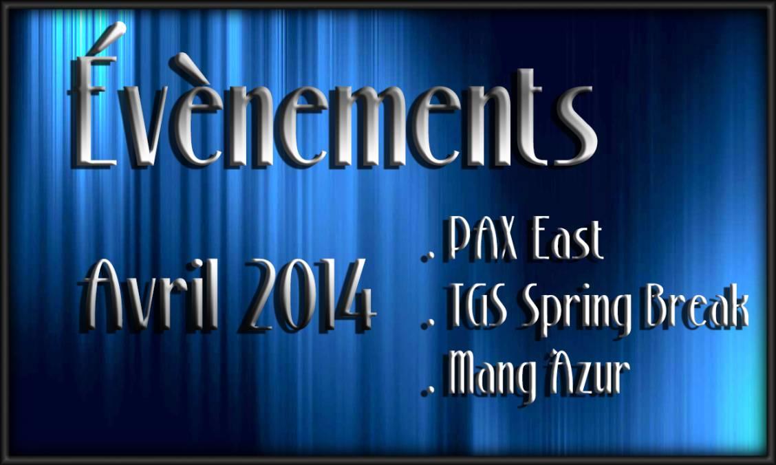 Évènements du mois d'Avril